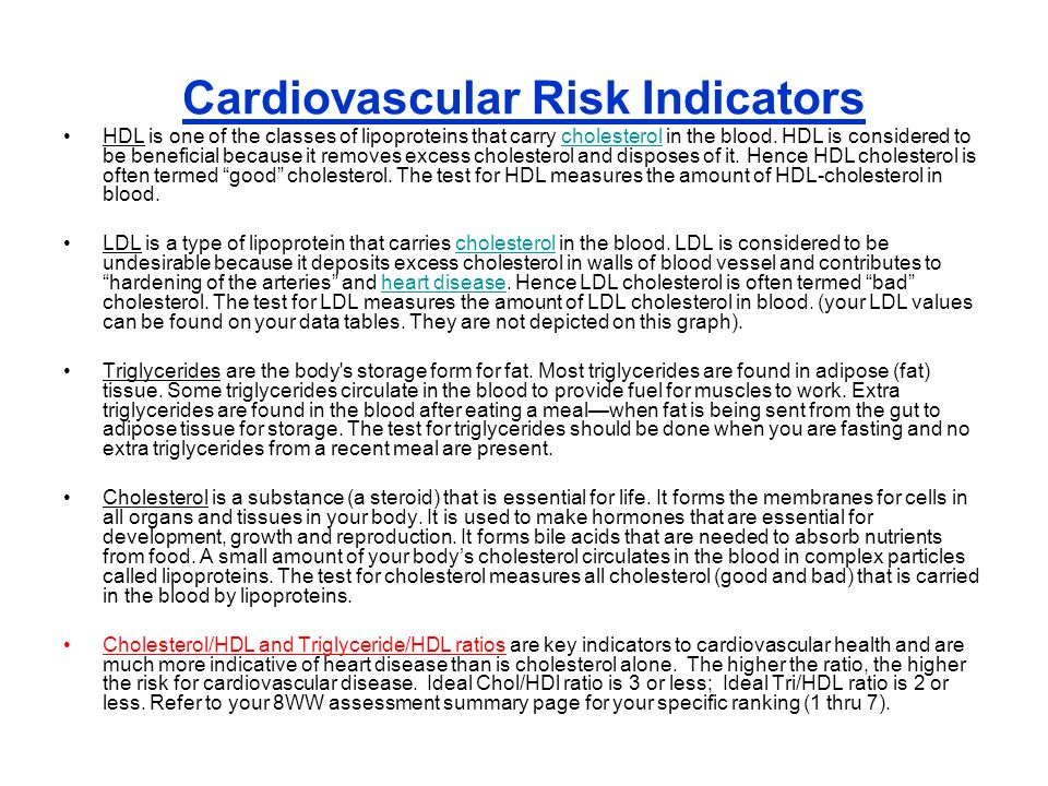 Cardiovascular Risk Indicators HDL is one of the classes of lipoproteins that carry cholesterol in the blood. HDL is considered to be beneficial becau
