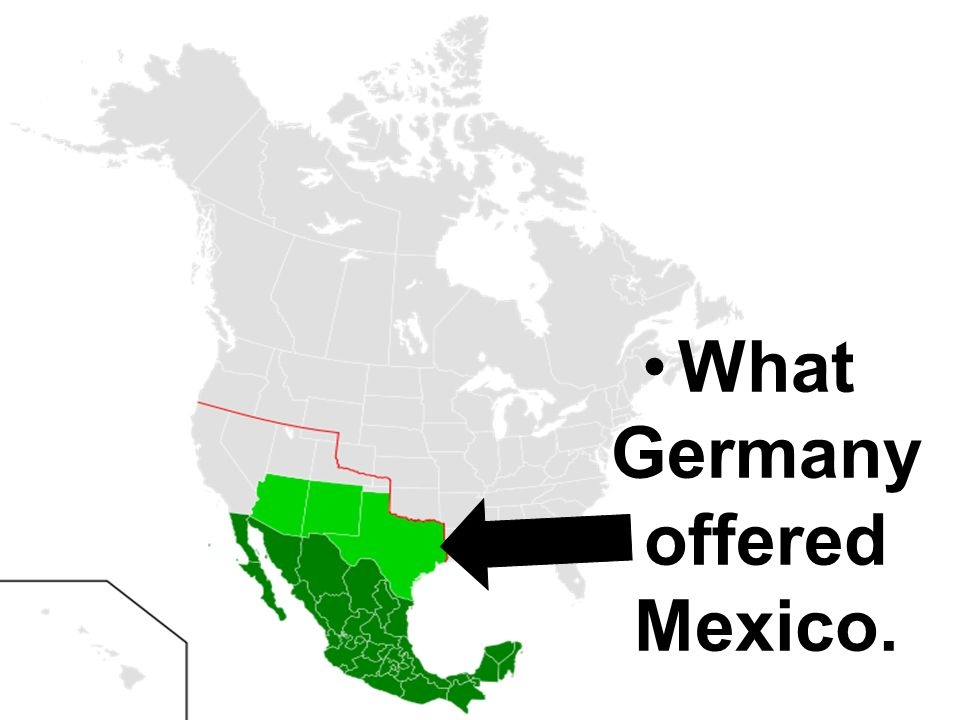 What Germany offered Mexico.