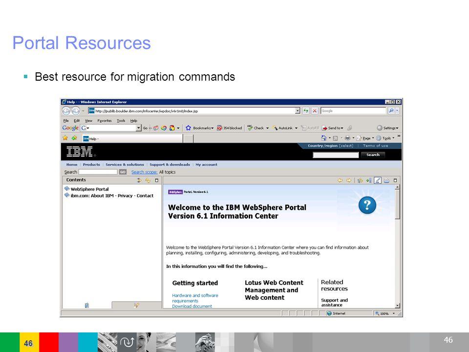 46 Portal Resources Best resource for migration commands