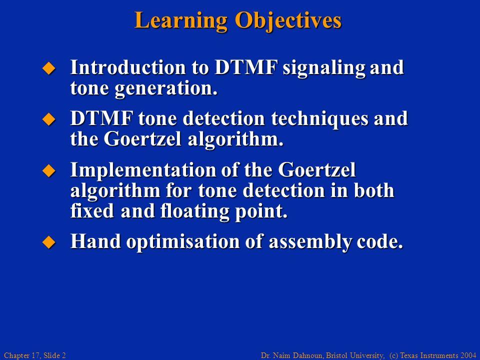 Chapter 17 Goertzel Algorithm