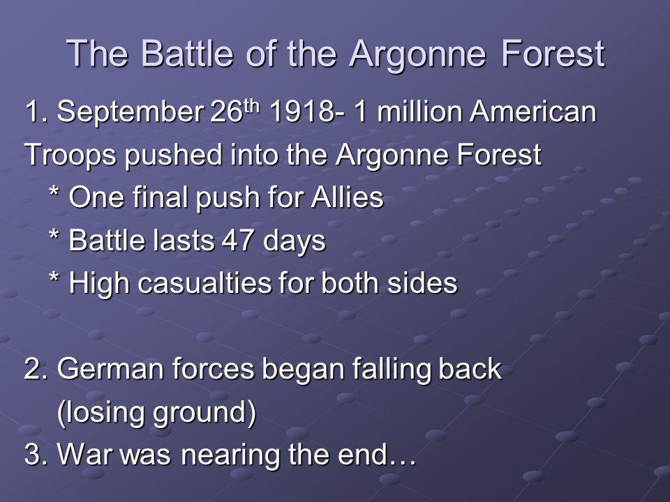 Armistice Ends the War 1.