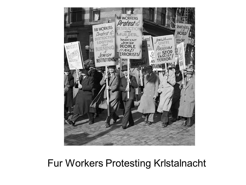 Fur Workers Protesting Krlstalnacht