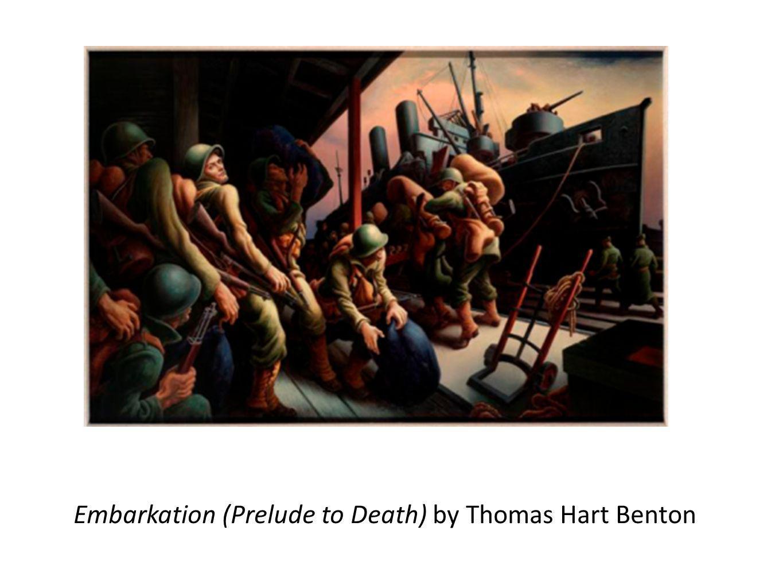 Embarkation (Prelude to Death) by Thomas Hart Benton