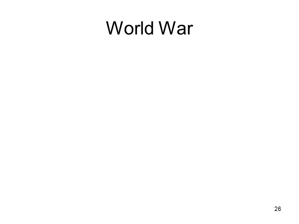 26 World War