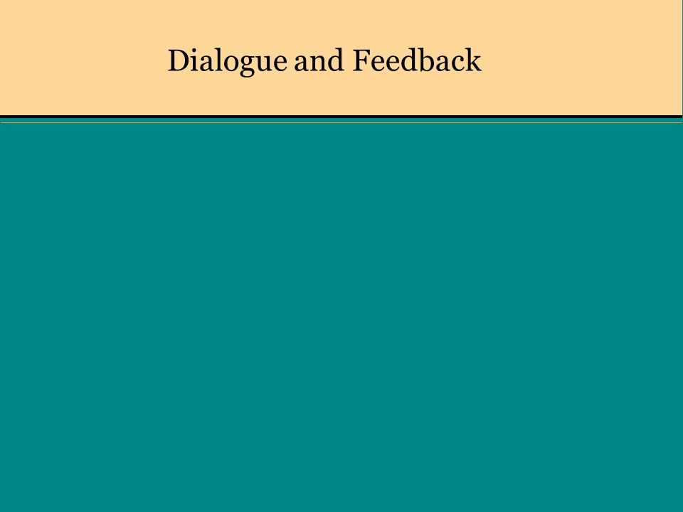 Dialogue and Feedback