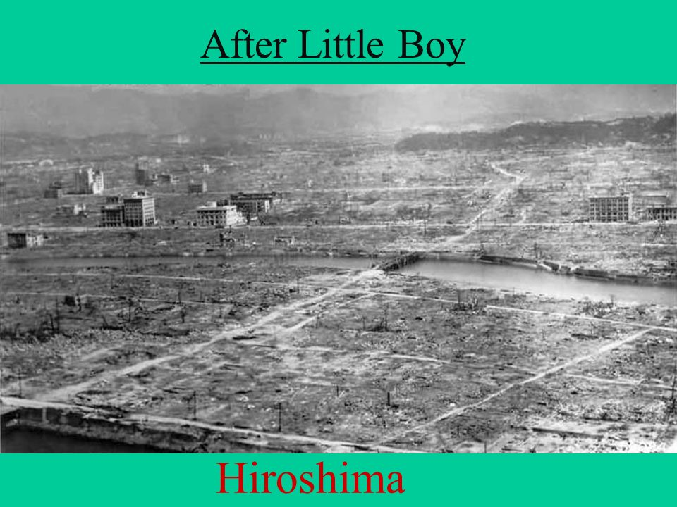 After Little Boy Hiroshima
