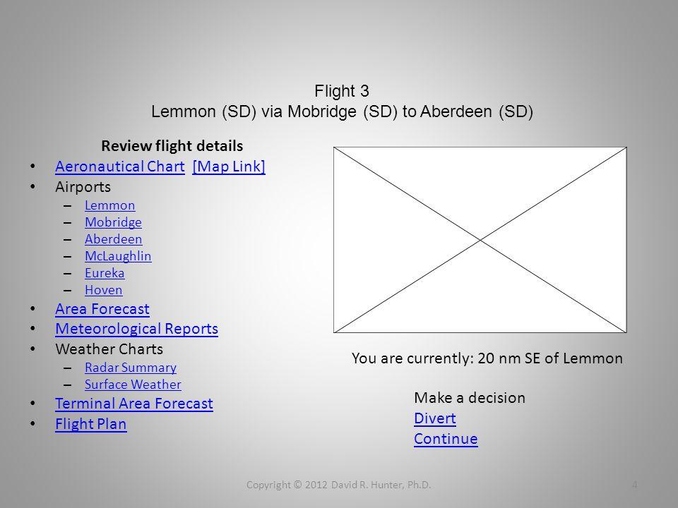 Flight 3 Lemmon (SD) via Mobridge (SD) to Aberdeen (SD) Review flight details Aeronautical Chart [Map Link] Aeronautical Chart[Map Link] Airports – Le