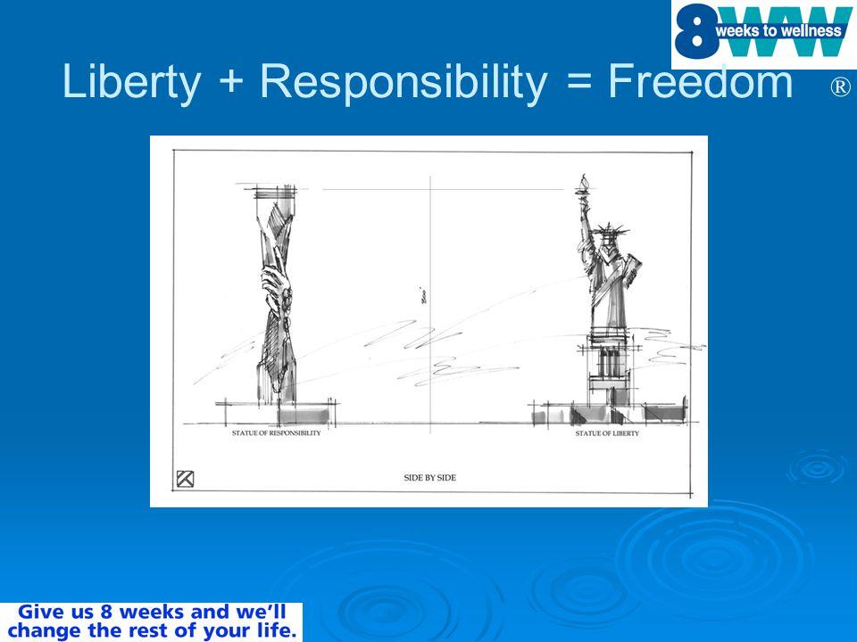 ® Liberty + Responsibility = Freedom