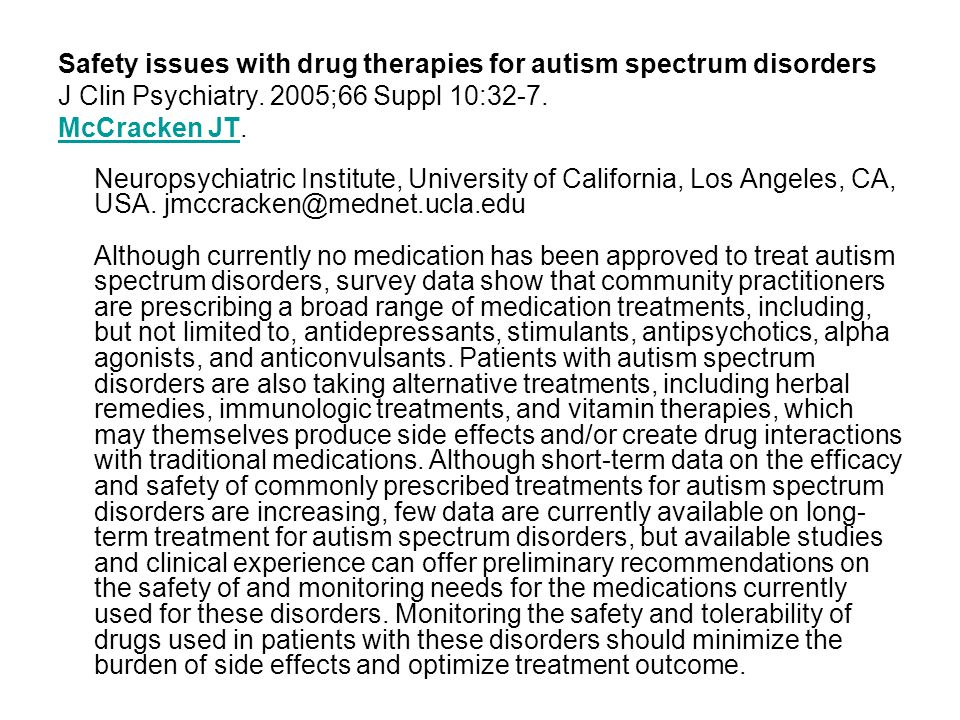 Acute and long-term safety and tolerability of risperidone in children with autism.