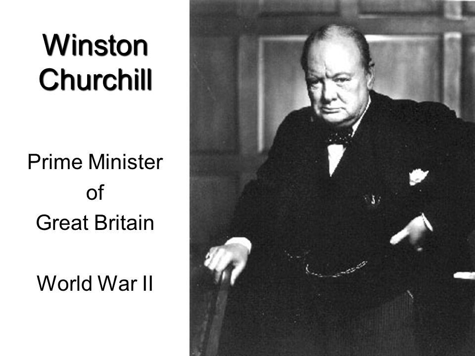 Winston Churchill Prime Minister of Great Britain World War II