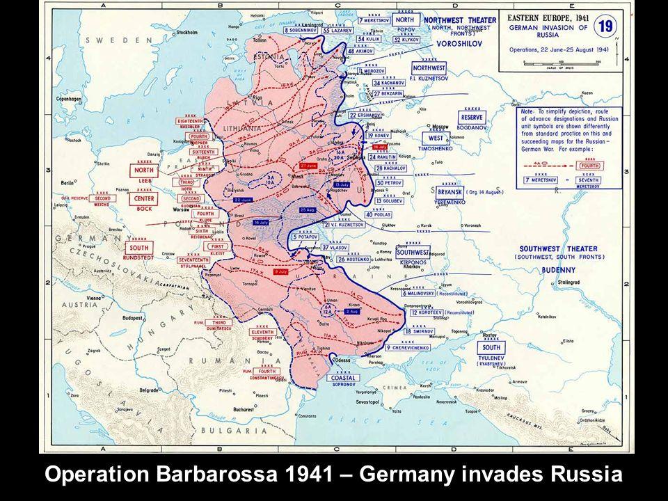 Operation Barbarossa 1941 – Germany invades Russia