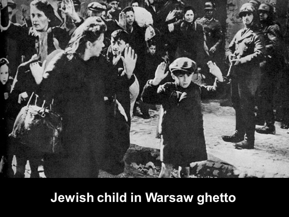 Jewish child in Warsaw ghetto