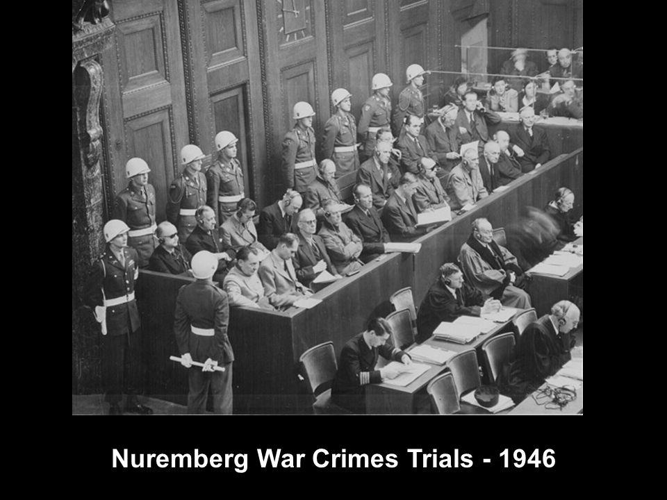 Nuremberg War Crimes Trials - 1946