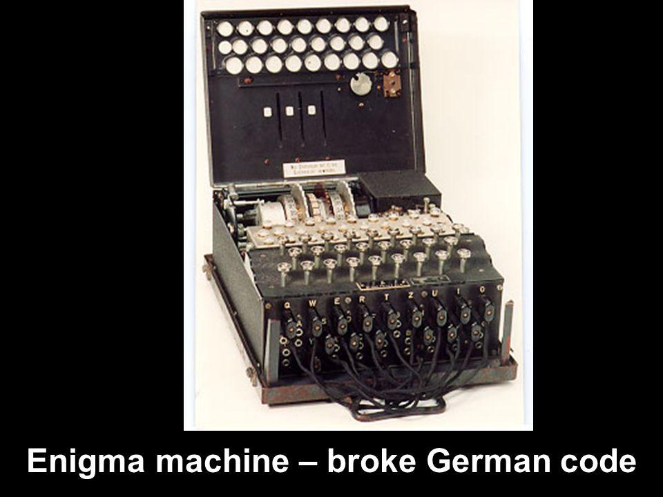 Enigma machine – broke German code