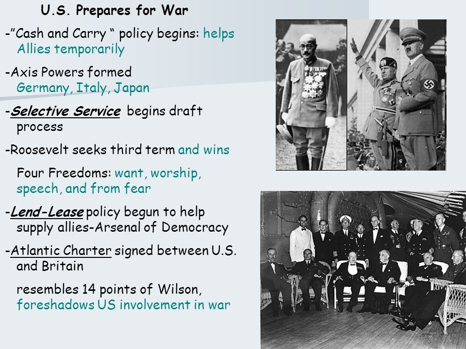 The US Enters WWII Review