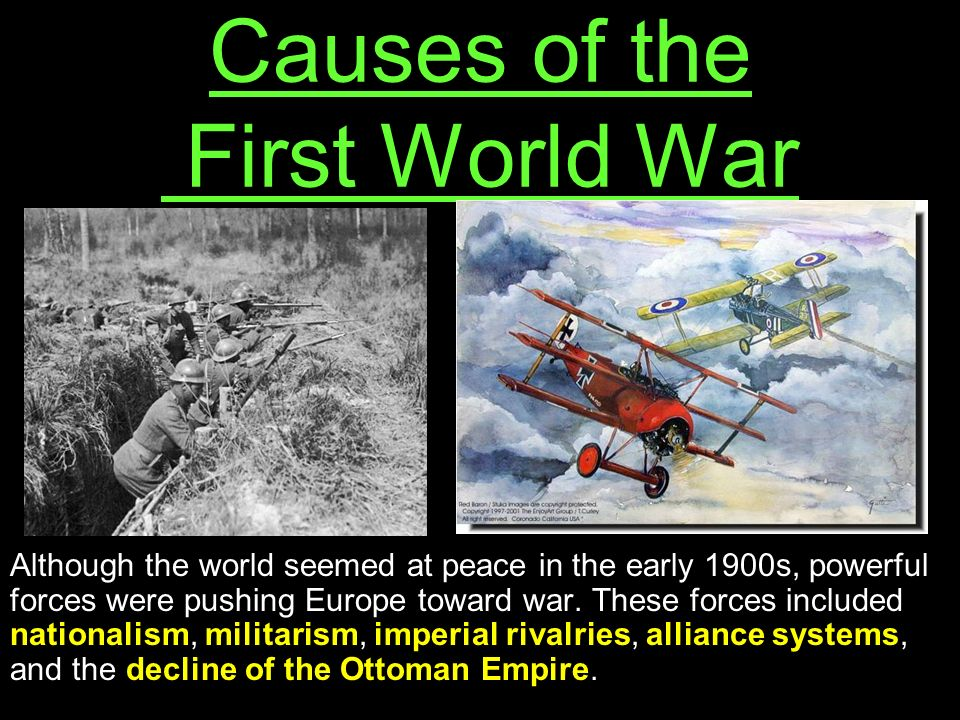 the causes of world war 1 essay