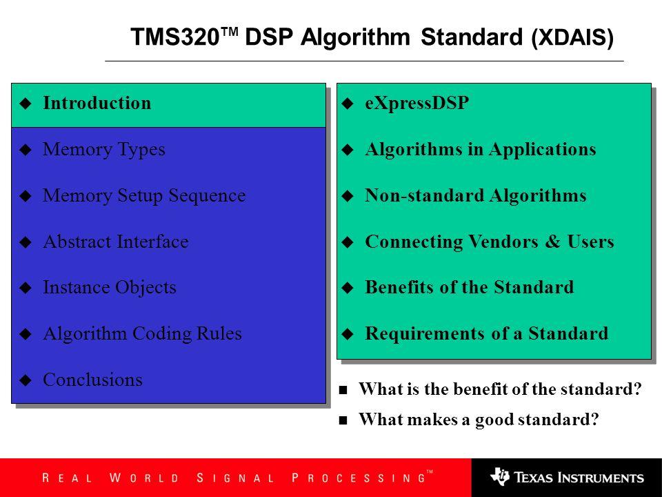 eXpressDSP TM Software Technology Seminar
