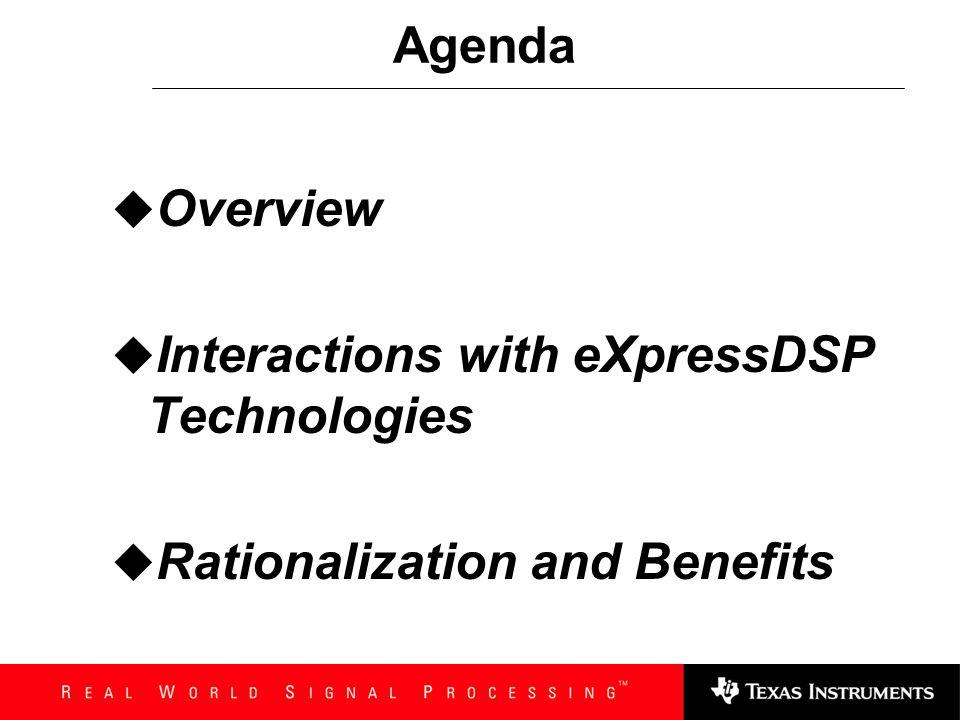 TMS320 DSP Algorithm Standard: Overview & Rationalization