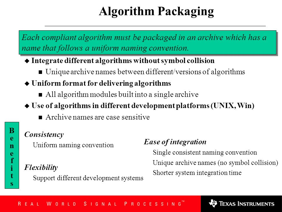 Abstract Interface Implementation Need for design/run-time creation of algorithm instances Ability to relocate algorithm interface methods in memory A