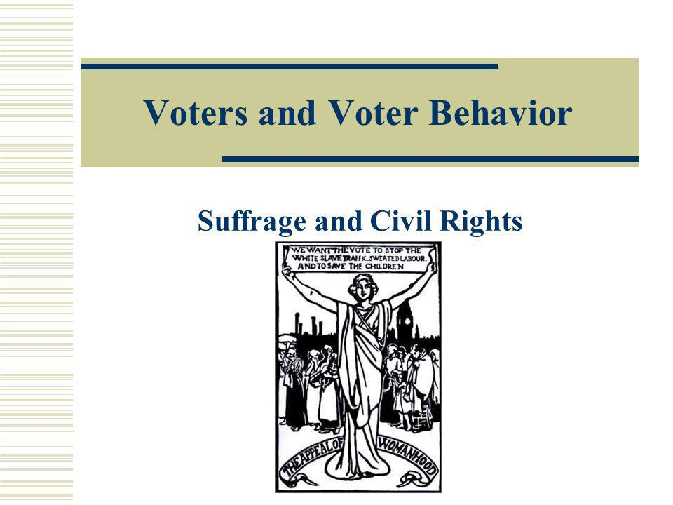 Voters and Voter Behavior Suffrage and Civil Rights