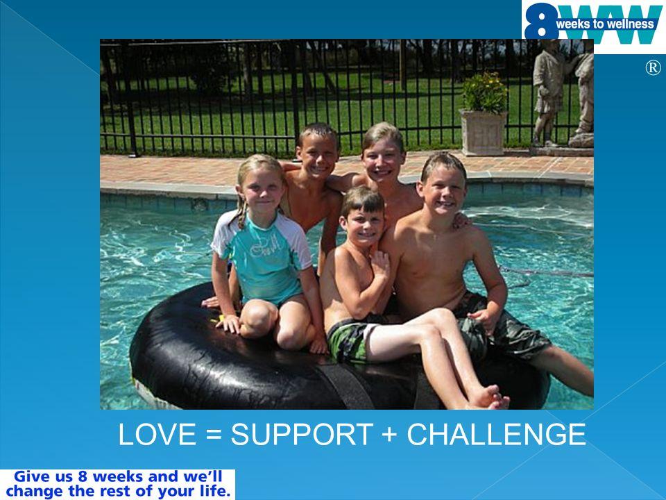 ® LOVE = SUPPORT + CHALLENGE