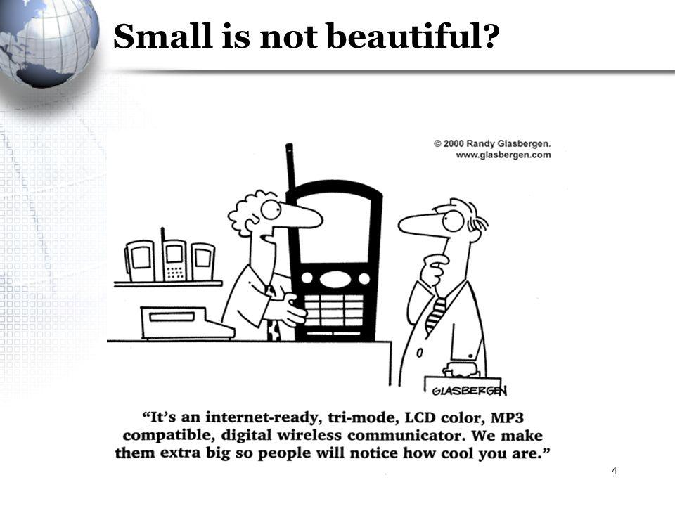Budi Rahardjo - No ICT without ICT4 Small is not beautiful?