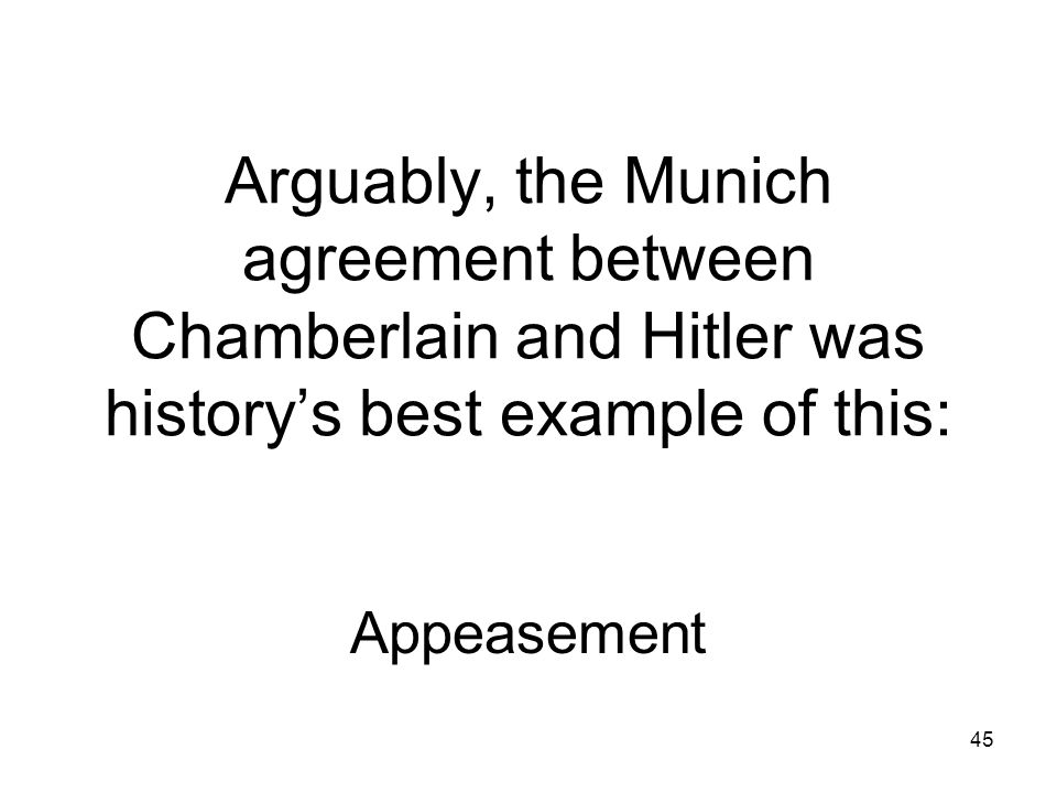 44 After what meeting did Chamberlain get the paper which brought Peace in our time Munich Conference 1938