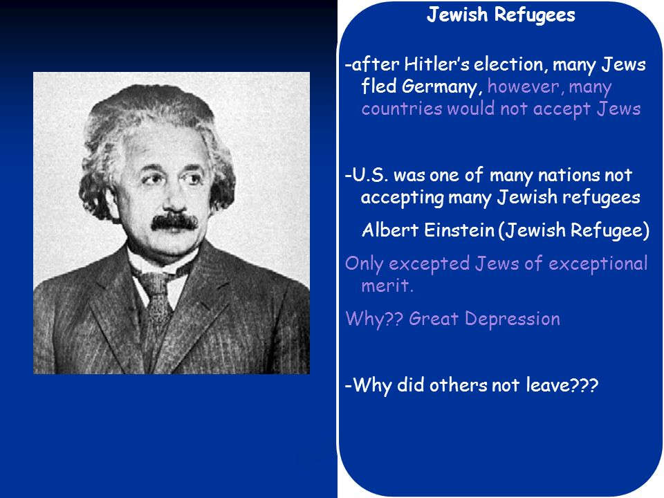 Persecution Begins -Anti-Jewish sentiments for many centuries: hatred of Jews, Jews were blamed for Germanys failures -Hitlers Mein Kampf blamed Jews