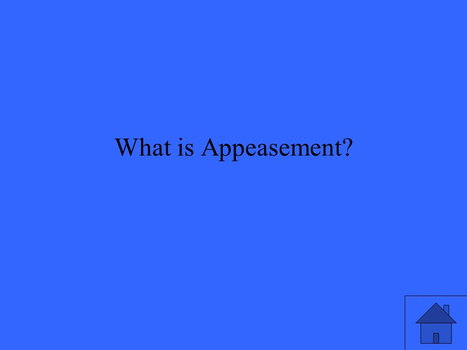 What is Appeasement