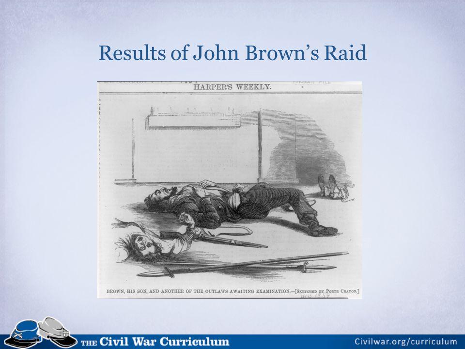 Results of John Browns Raid