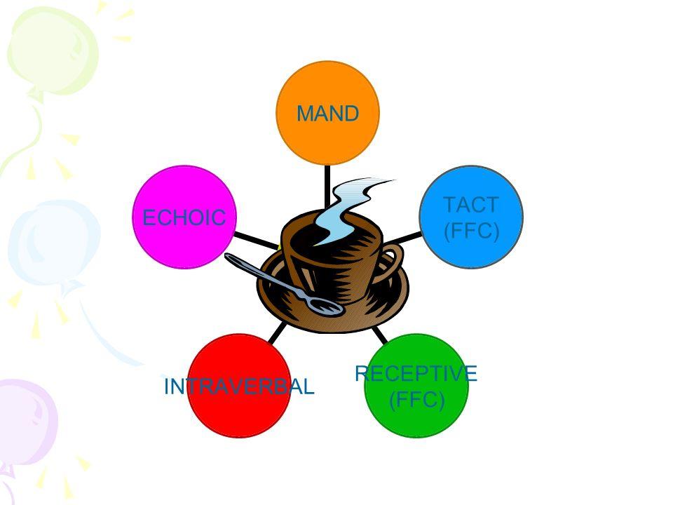 MAND TACT (FFC) RECEPTIVE (FFC) INTRAVERBAL ECHOIC