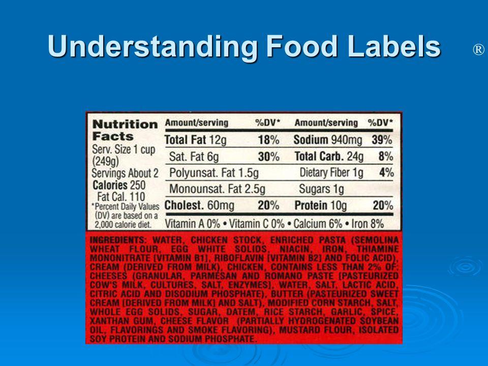® Understanding Food Labels