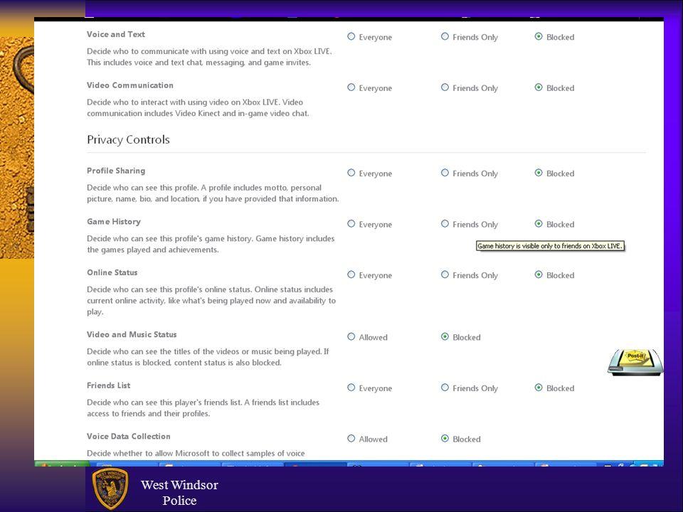 West Windsor Police XBox & Sexting