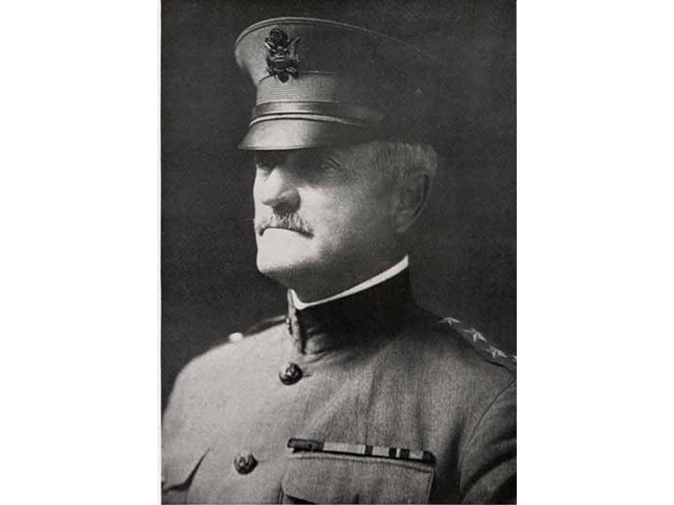 General John J. Pershing Commander of the American Expeditionary Force during World War I