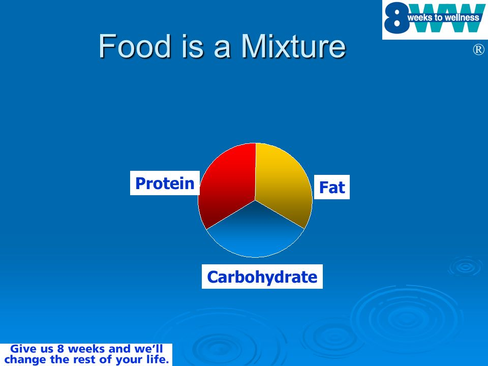 ® Food is a Mixture Protein Carbohydrate Fat