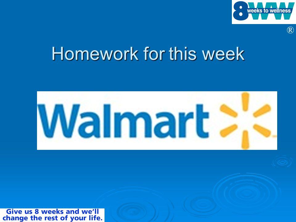® Homework for this week