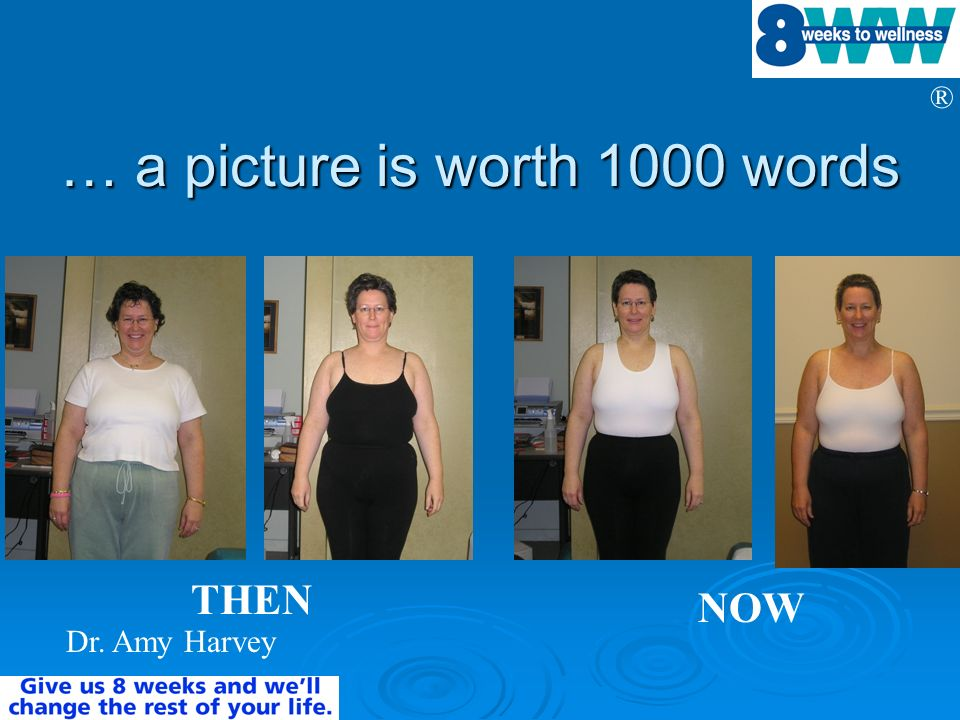 ® … a picture is worth 1000 words Dr. Amy Harvey THEN NOW