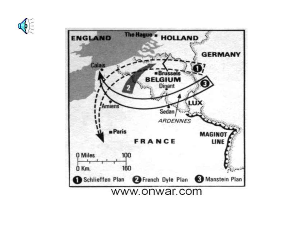 The Maginot line were bunkers built in protection against Germany Hitler simply went around the Maginot line and invaded through the Netherlands,Belgi
