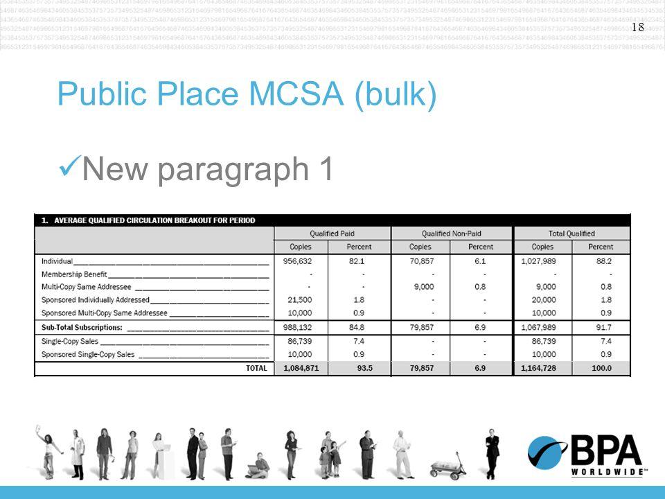 18 Public Place MCSA (bulk) New paragraph 1