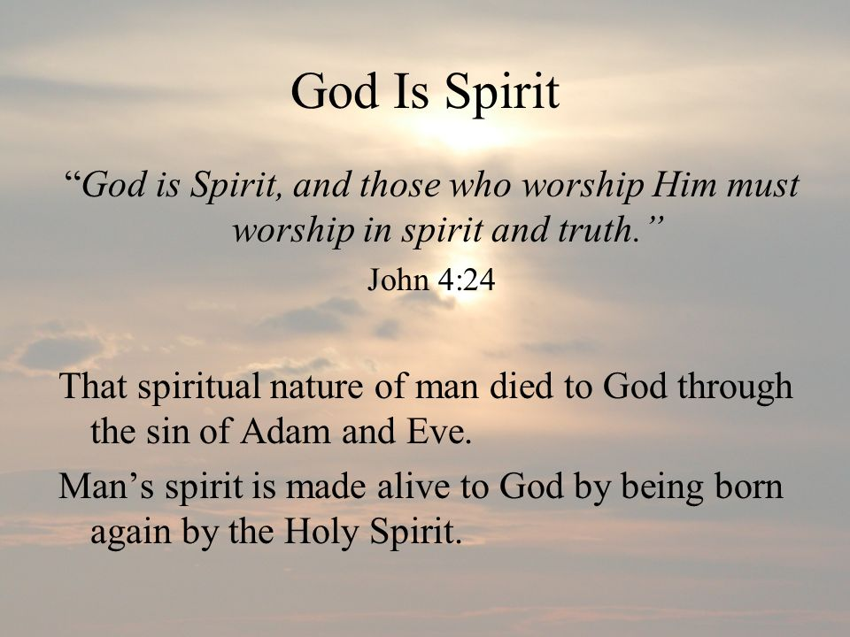 God Is A Trinity There is one God, revealed in three personalities, Father, Son and Holy Spirit Let us make man in Our image… Genesis 1:26 We worship and serve one true God revealed in three persons.