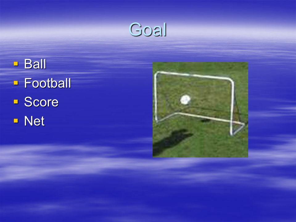 Goal Ball Ball Football Football Score Score Net Net