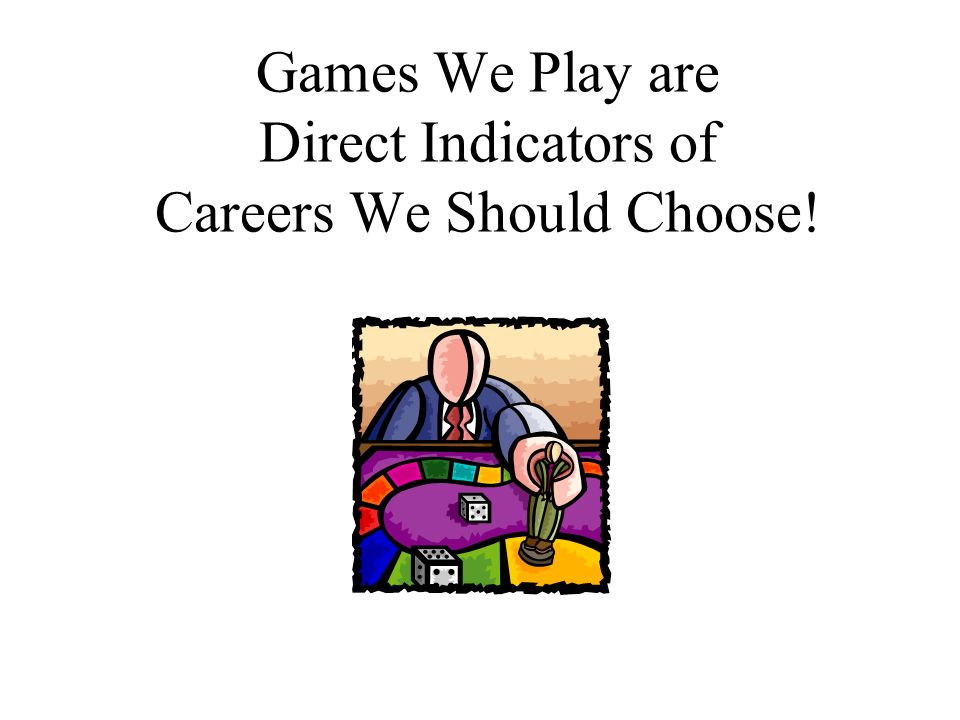 Games People Play12 Sports Sales Office Manager School Administrator Realistic Investigative Artistic Social Conventional Enterprising