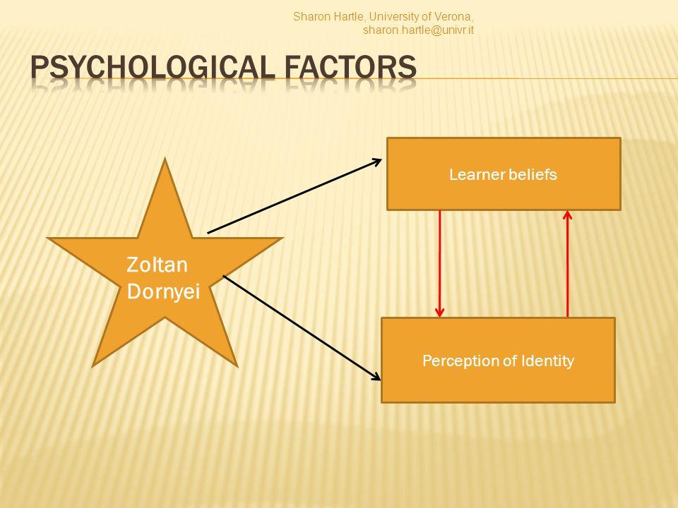 Zoltan Dornyei Learner beliefs Sharon Hartle, University of Verona, sharon.hartle@univr.it Perception of Identity