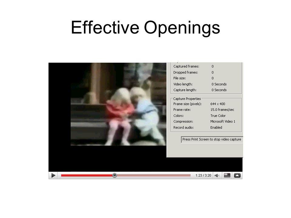 Effective Openings