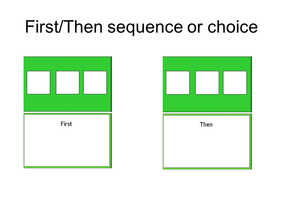 First/Then sequence or choice