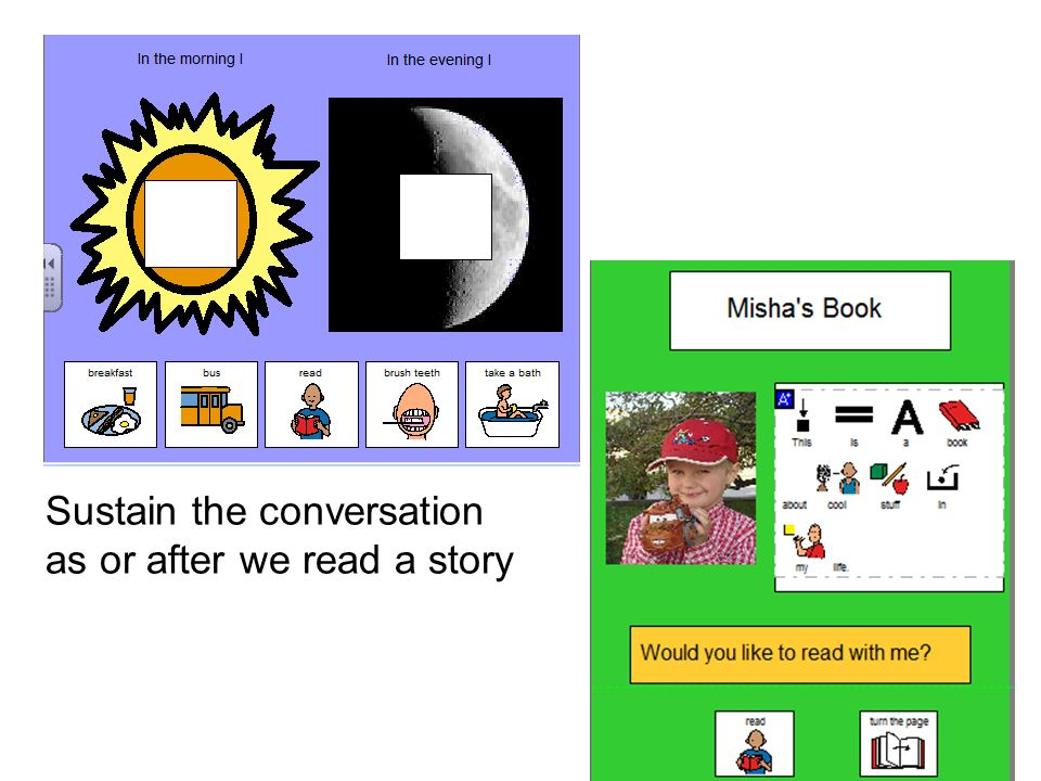 Sustain the conversation as or after we read a story