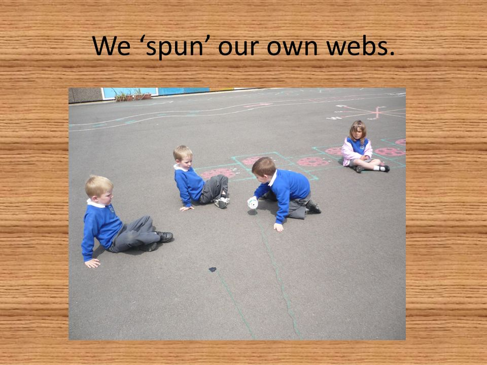 We spun our own webs.