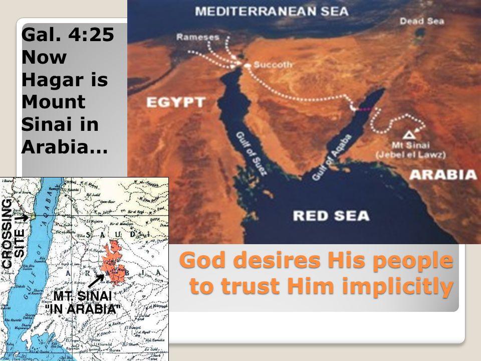 Gal. 4:25 Now Hagar is Mount Sinai in Arabia…