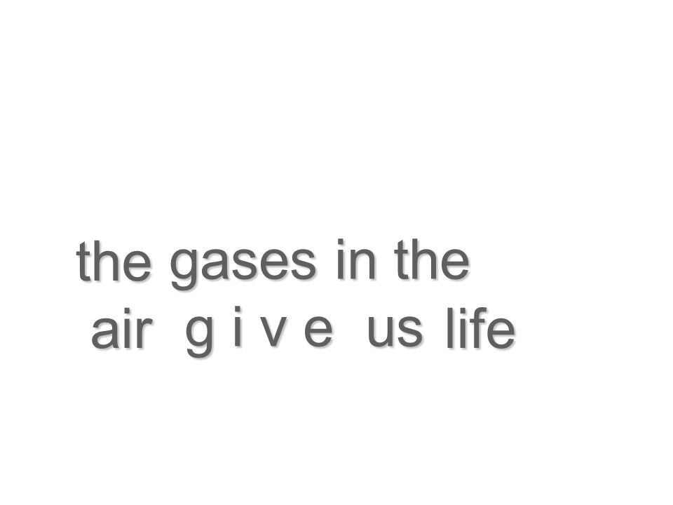 gases in the gases in the g i v e us g i v e us the we share theair life