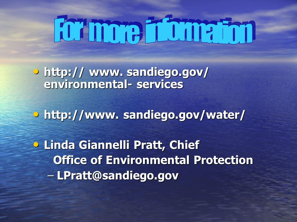 www. sandiego.gov/ environmental- services   www.